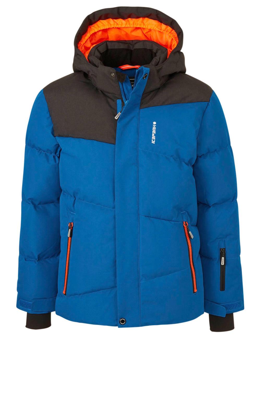 Icepeak ski-jack Linton blauw, Blauw/antraciet/oranje