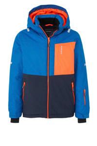 Icepeak ski-jack Leith jr blauw, blauw/donkerblauw/oranje