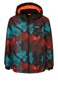 Icepeak ski-jack Locke multi, Zwart/blauw/oranje