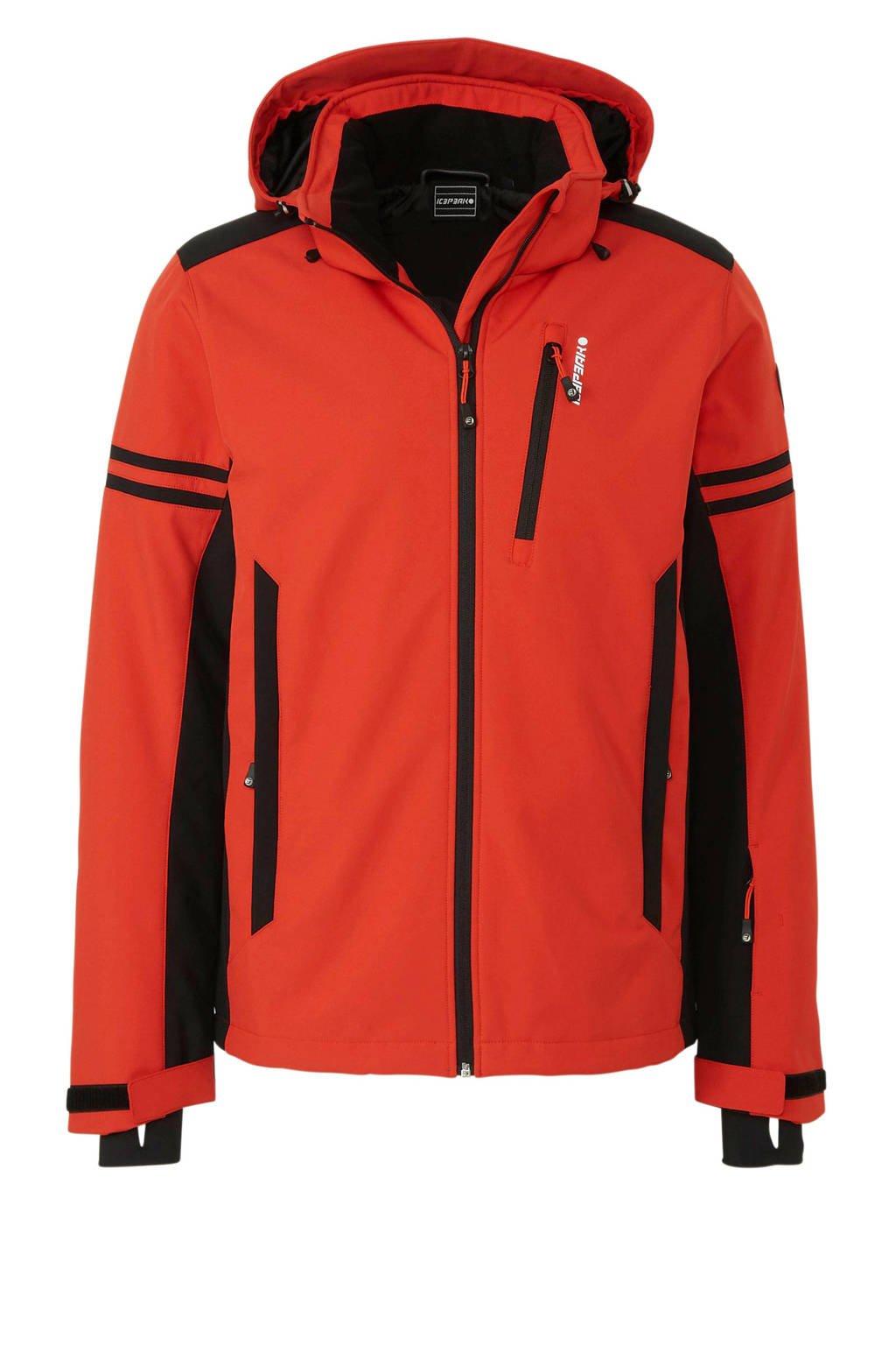 Icepeak softshell ski-jack Foix rood/zwart, Zwart/rood