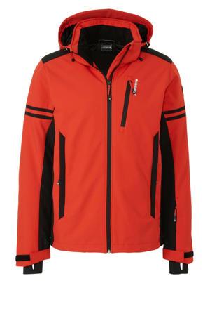 softshell ski-jack Foix rood/zwart