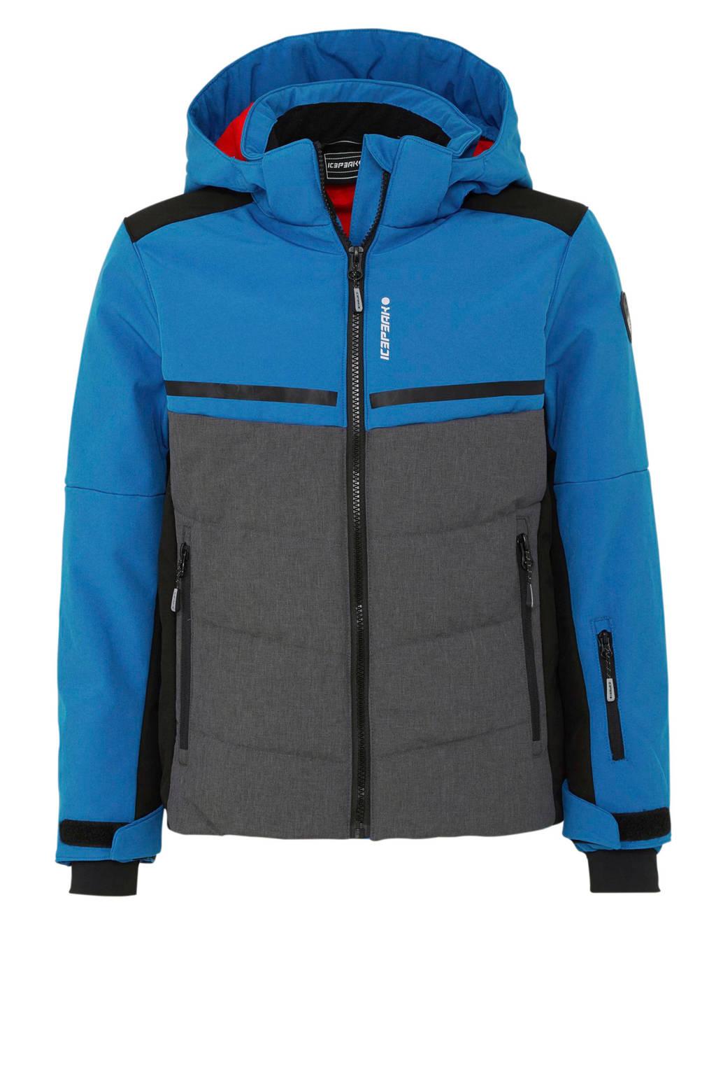 Icepeak ski-jack Lambert blauw/grijs, Blauw/Grijs/Zwart