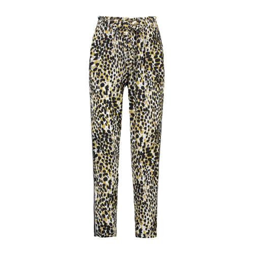 Claudia Str????ter loose fit broek met panterprint