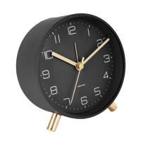 Karlsson alarmklok/wekker Lofty (Ø11 cm), Zwart