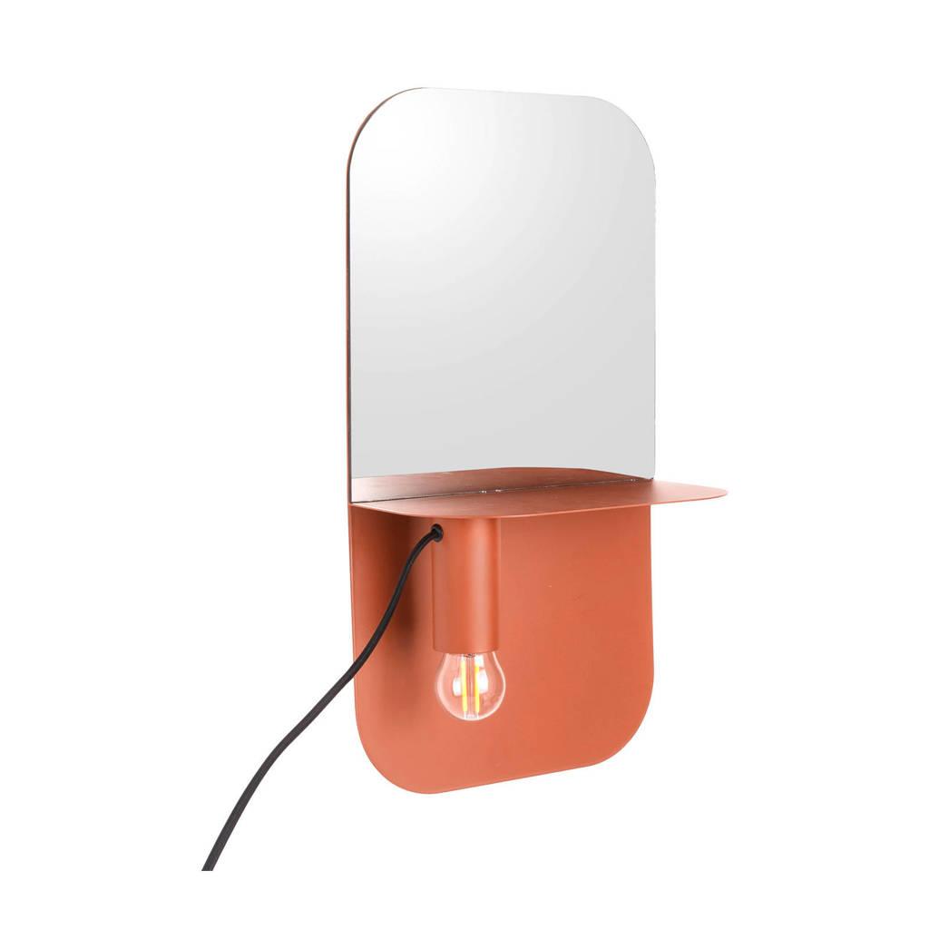 Leitmotiv wandlamp Plate, Bruin
