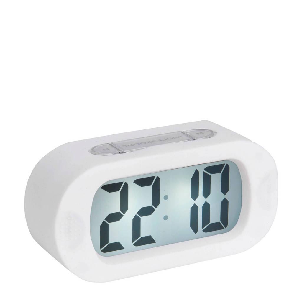 Karlsson alarmklok/wekker Gummy, Wit