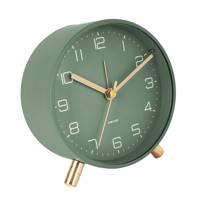 Karlsson alarmklok/wekker Lofty (Ø11 cm), Groen
