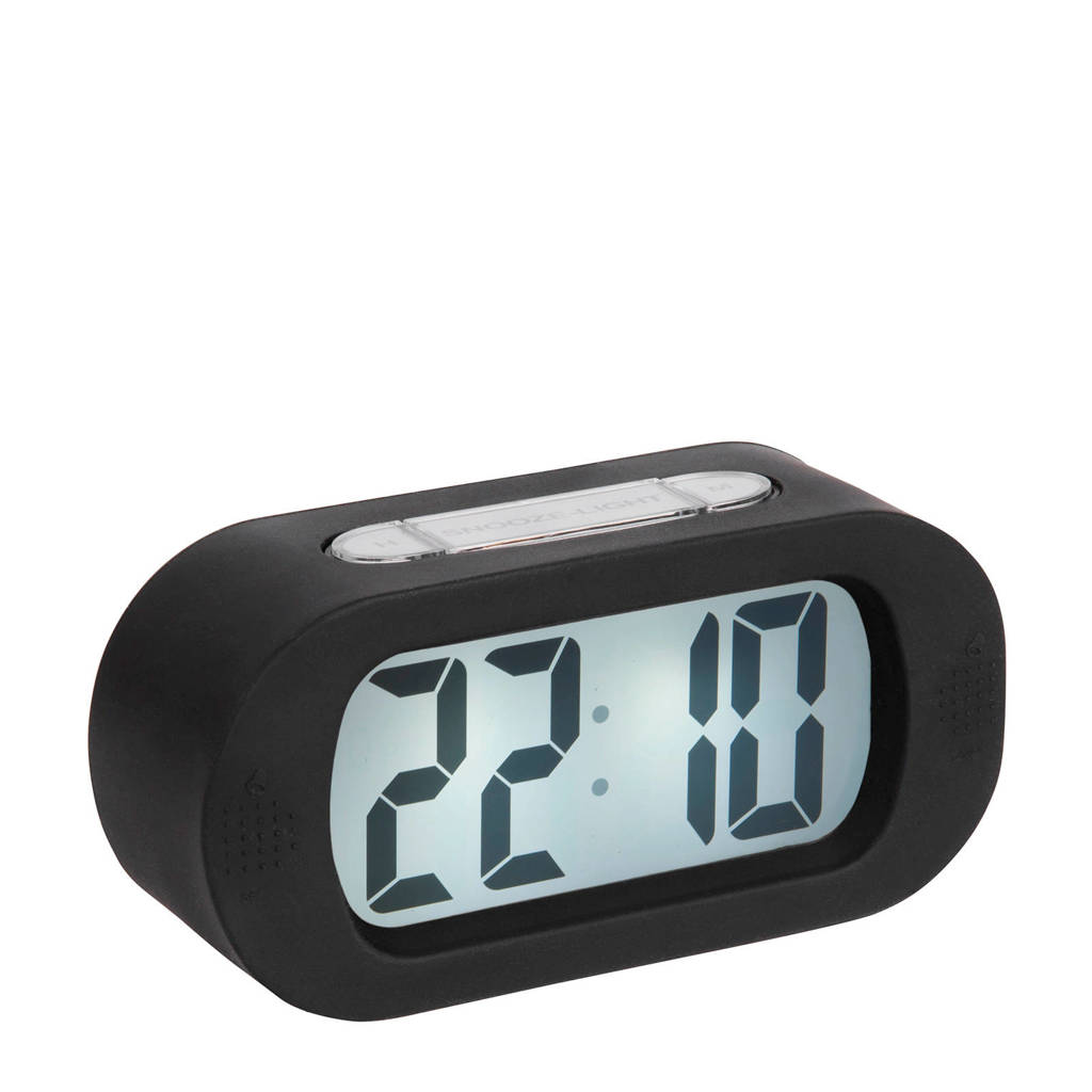 Karlsson alarmklok/wekker Gummy, Zwart