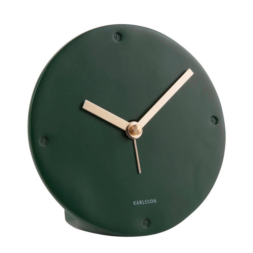 Karlsson alarmklok/wekker Mantel (Ø12 cm), Donkergroen