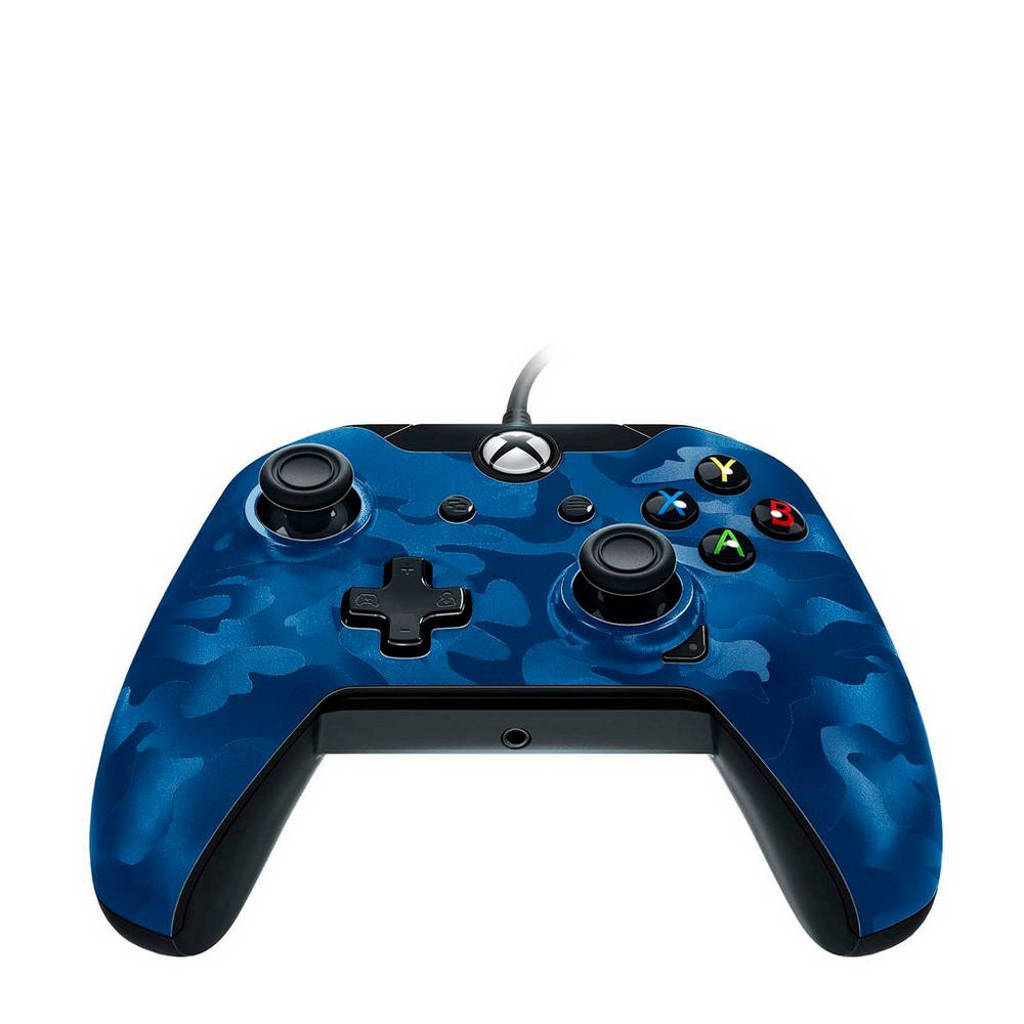 PDP bedrade controller (Xbox One/PC) blauw, Blauw camo