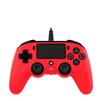 Nacon PlayStation 4 official wired compact controller rood, Rood
