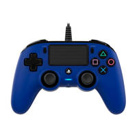 Nacon PlayStation 4 official wired compact controller blauw, Blauw