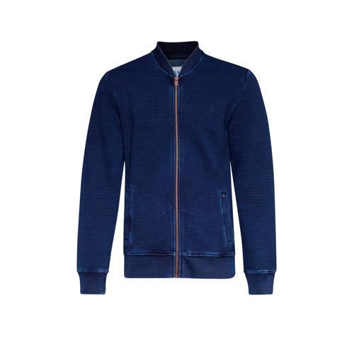 WE Fashion Blue Ridge ribgebreid vest indigo