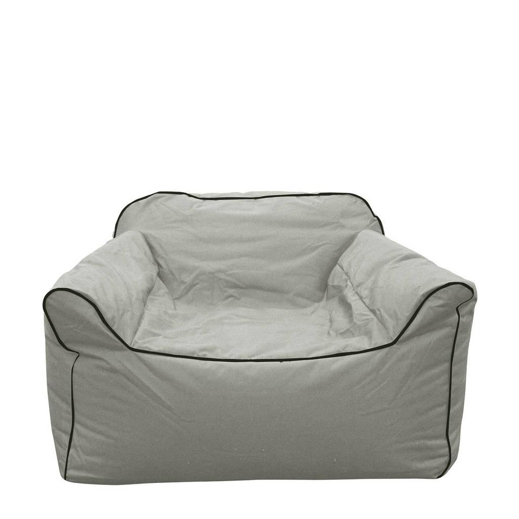 Layzy B-Box loungestoel, lichtgrijs met donkergrijze bies