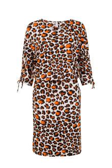 Regulier jurk met luipaardprint