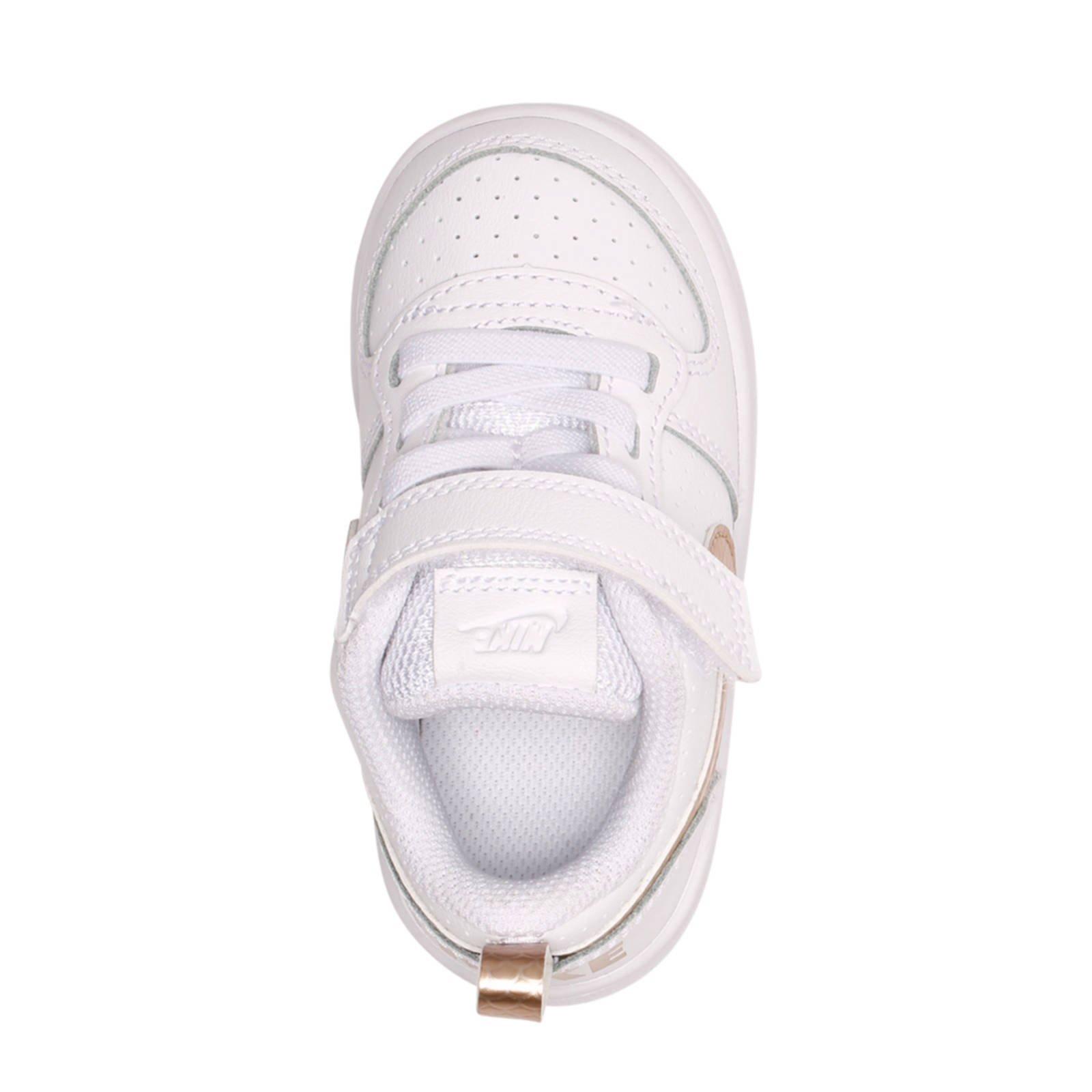 Nike Court Borough Low sneakers wit/goud   wehkamp