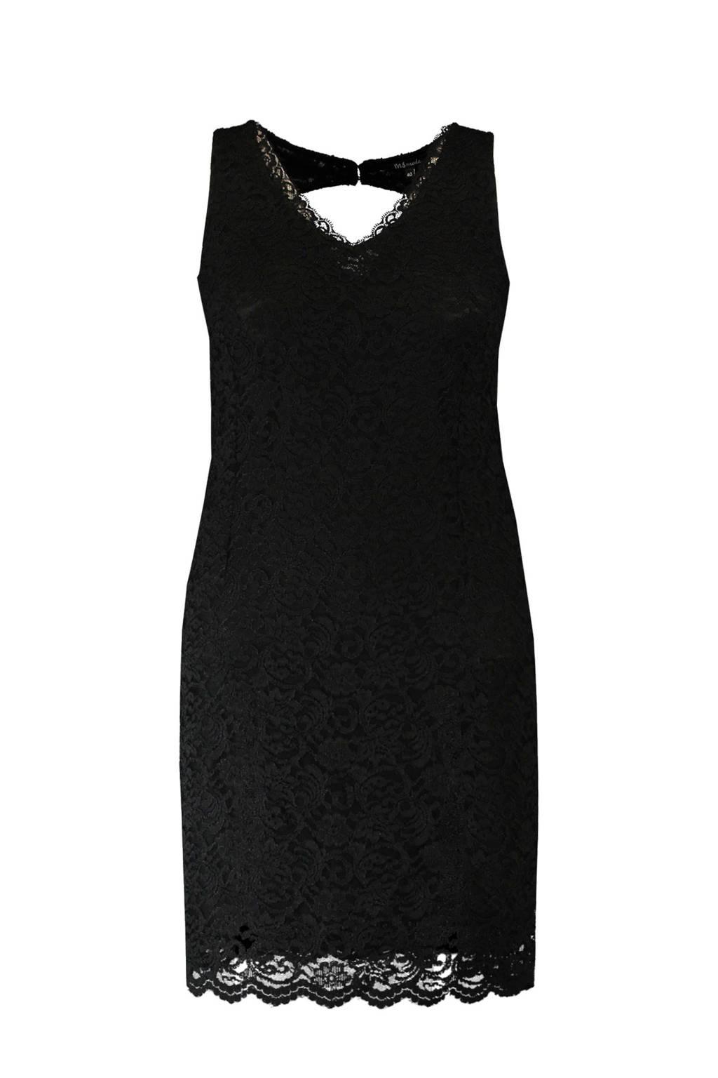 MS Mode kanten jurk met open achterkant zwart, Zwart