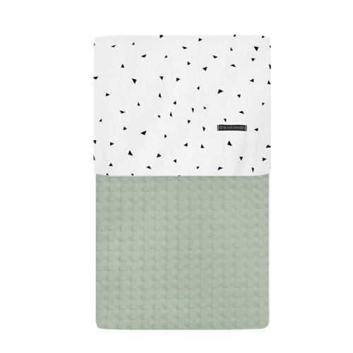 Your Wishes wieg deken groen 70x100 cm