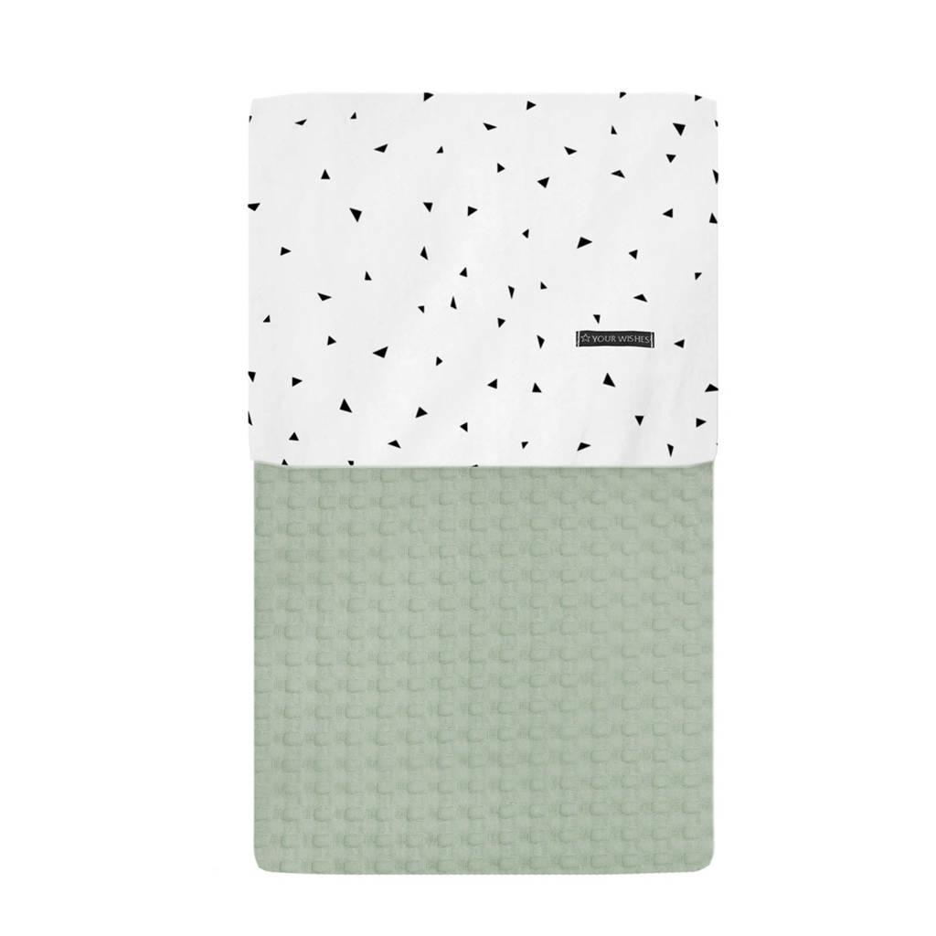 Your Wishes wieg deken groen 70x100 cm, Groen