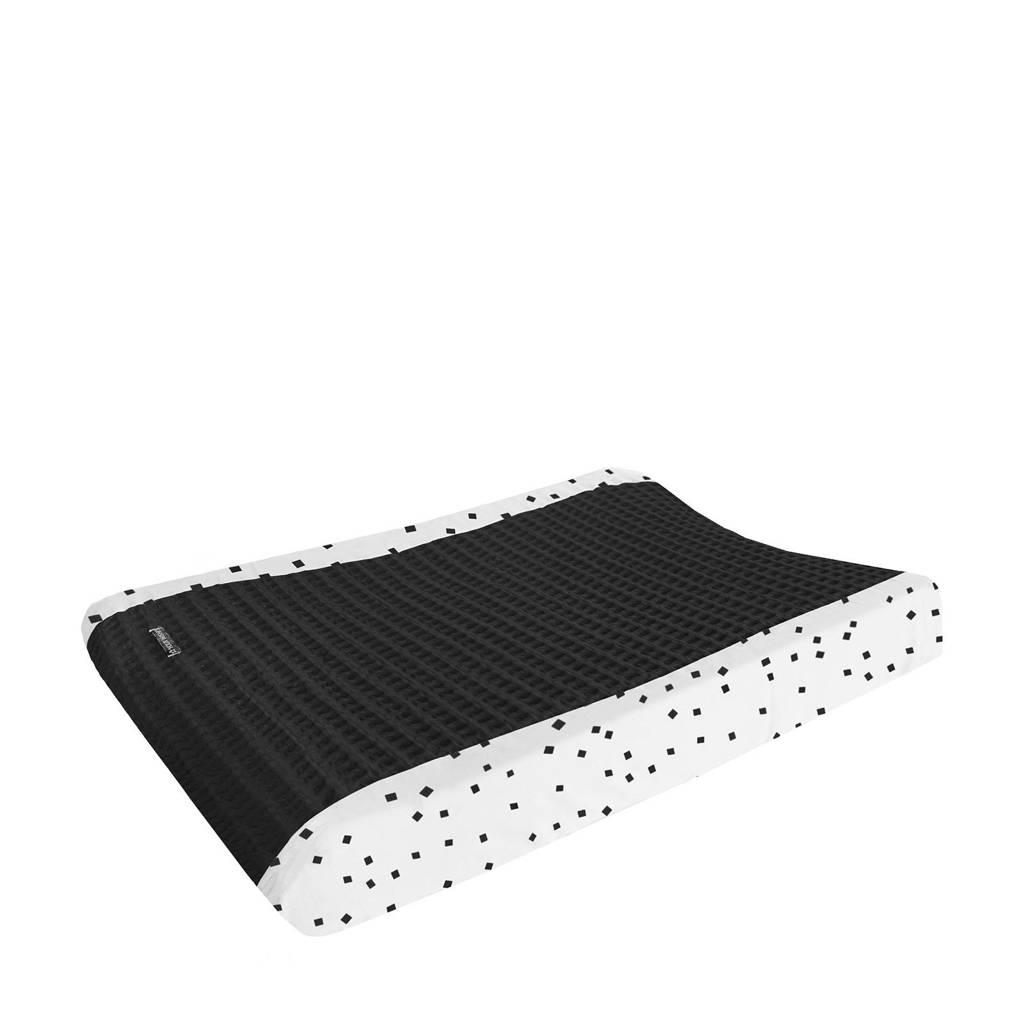 Your Wishes aankleedkussenhoes zwart 45x73 cm, Zwart/wit