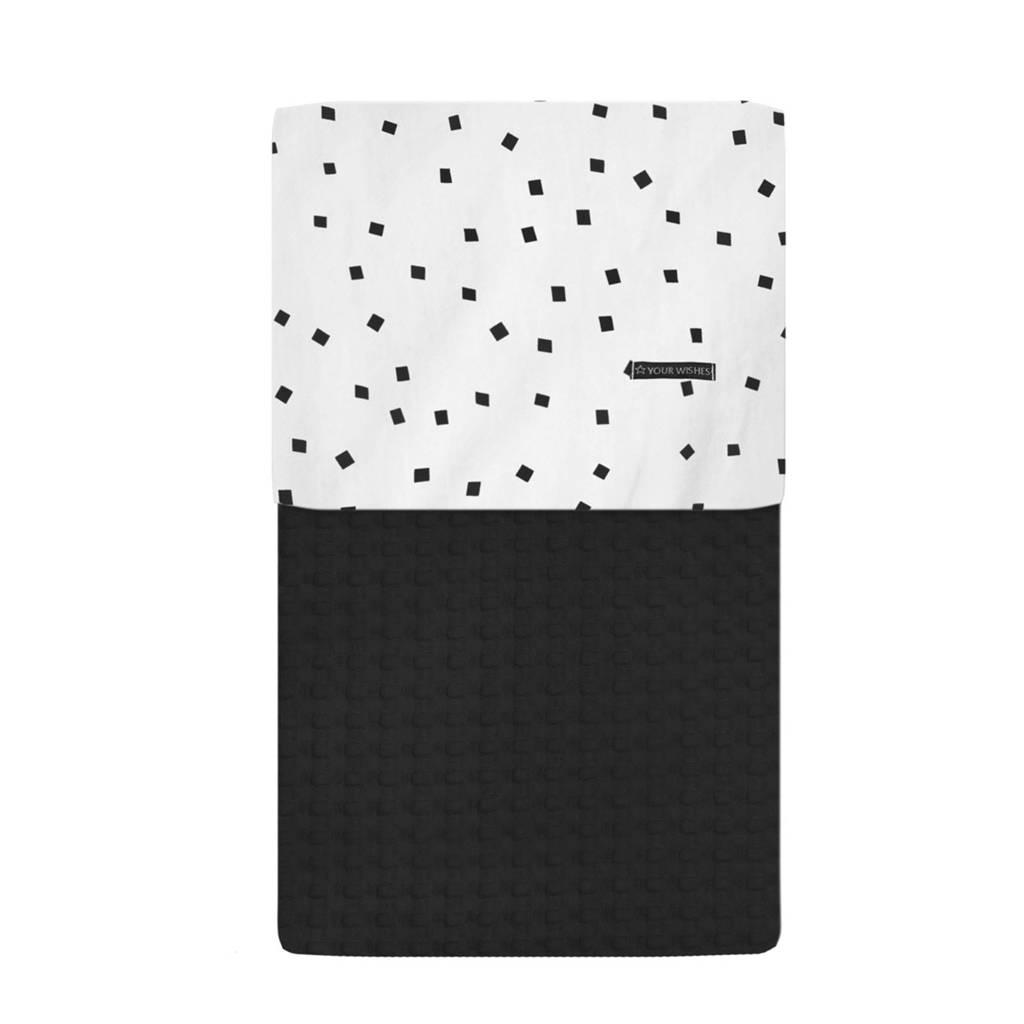Your Wishes ledikant deken zwart 100x140 cm, Zwart