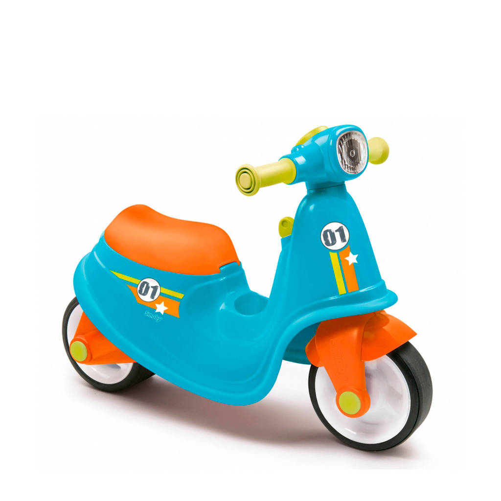 Smoby  scooter blauw ride-on, Blauw