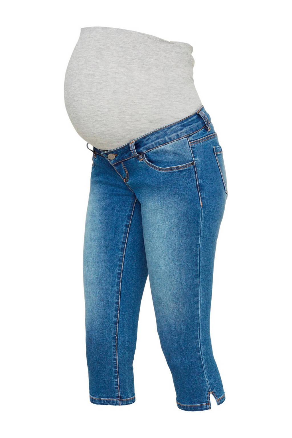 MAMA-LICIOUS low waist slim fit zwangerschapscapri lichtblauw, Lichtblauw