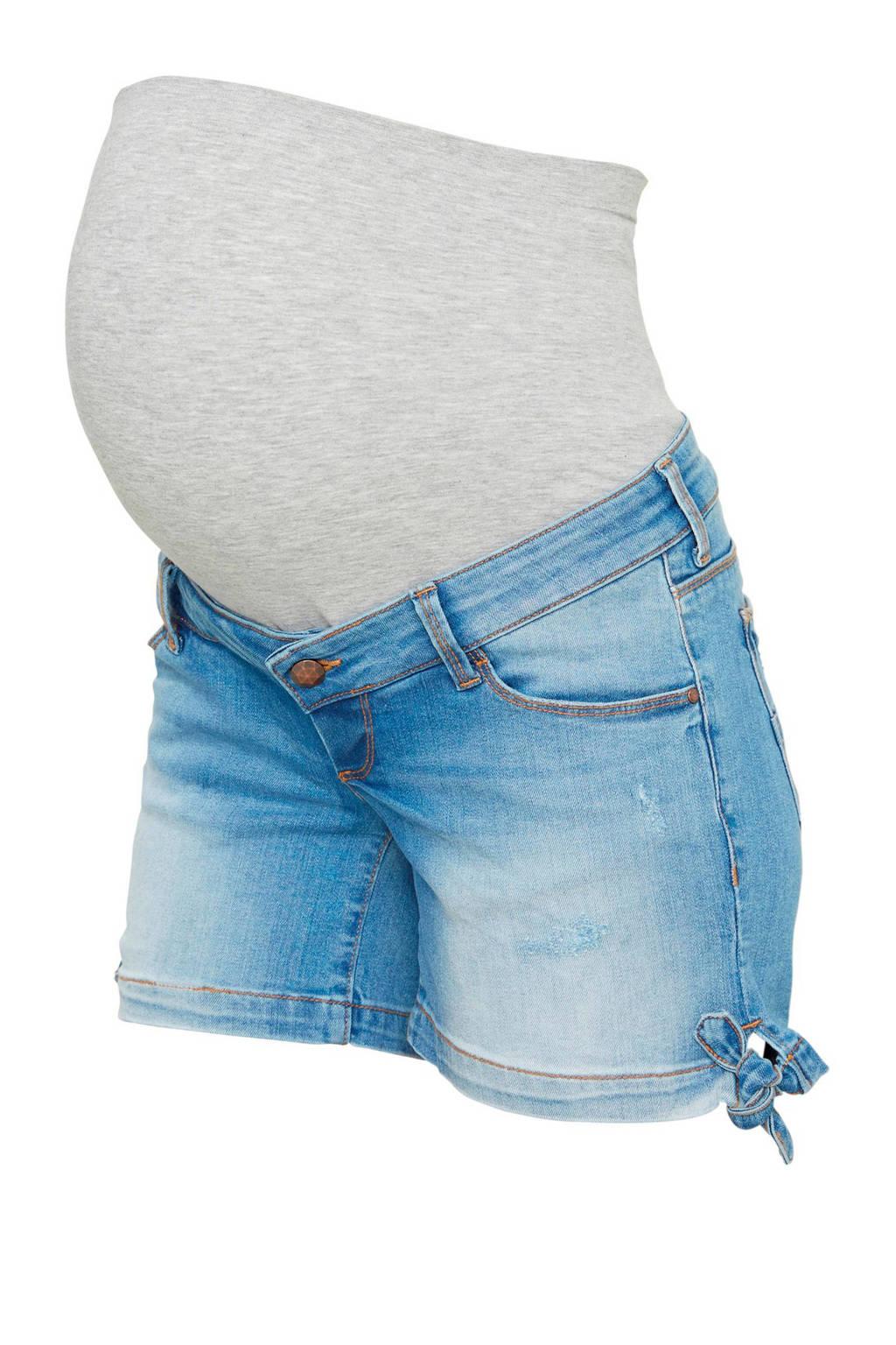 MAMA-LICIOUS zwangerschaps jeans short Cadiz, Light stonewashed