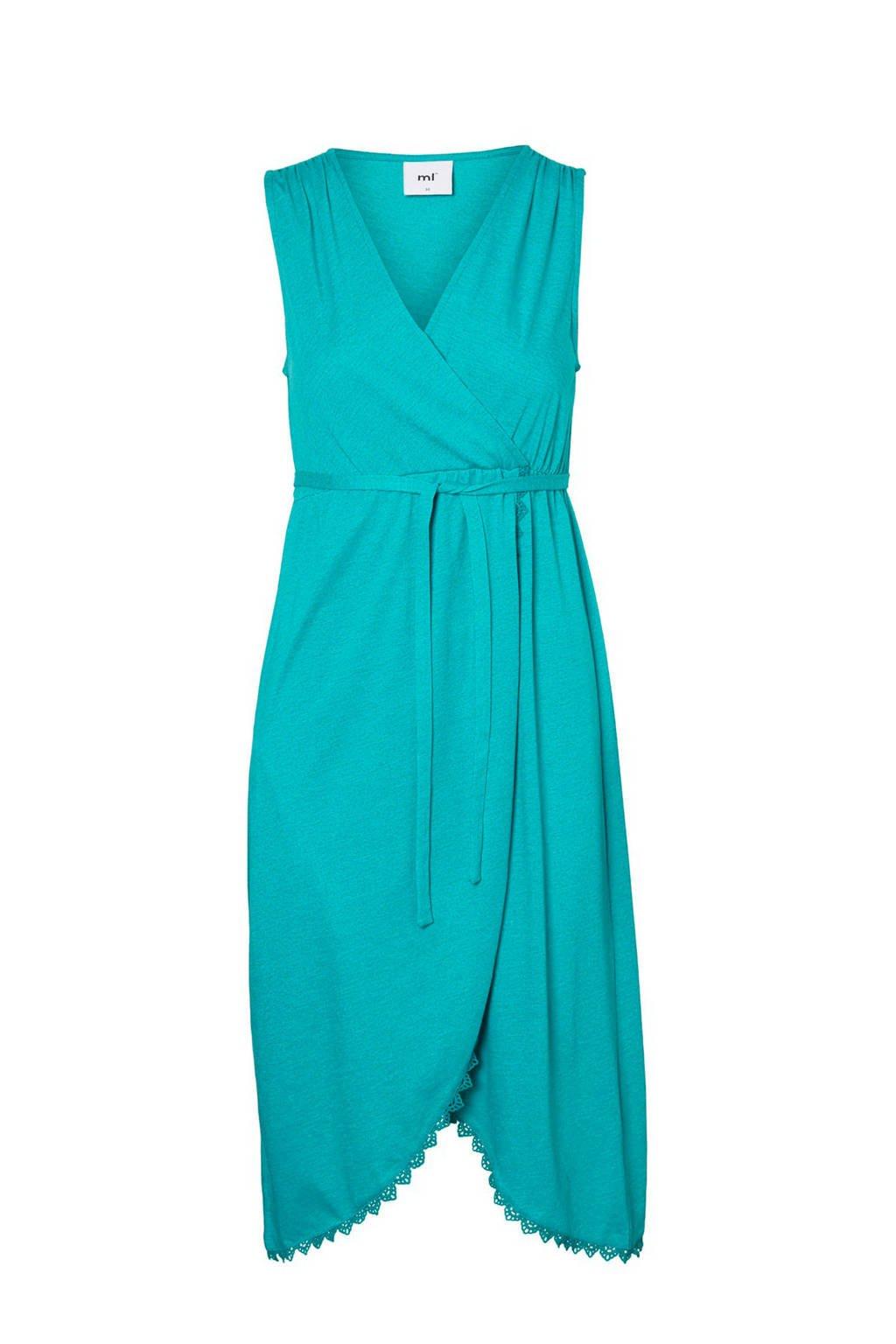 MAMA-LICIOUS zwangerschaps- en voedingsjurk Blaire turquoise, Turquoise