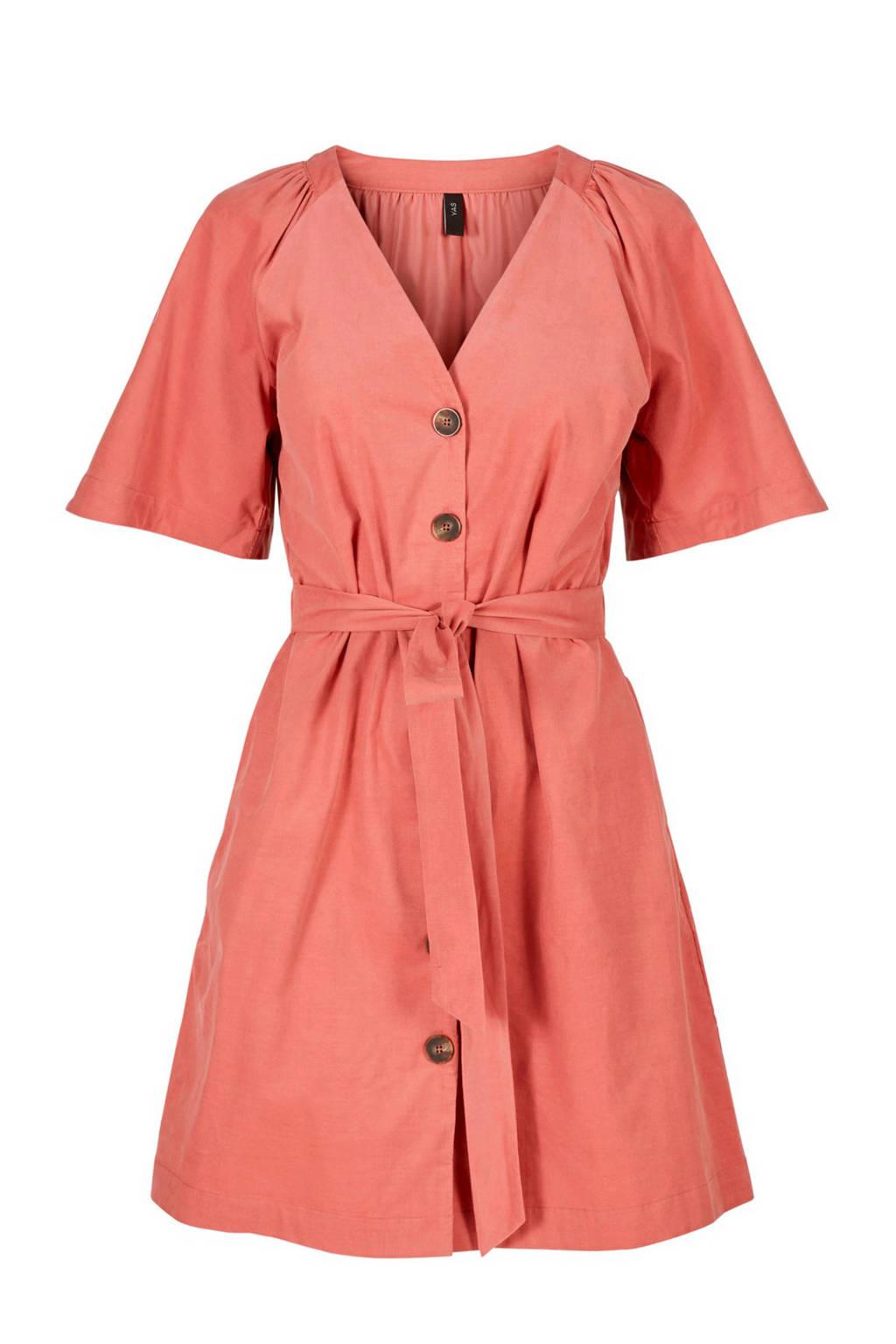 Y.A.S jurk met strikdetail roze, Roze