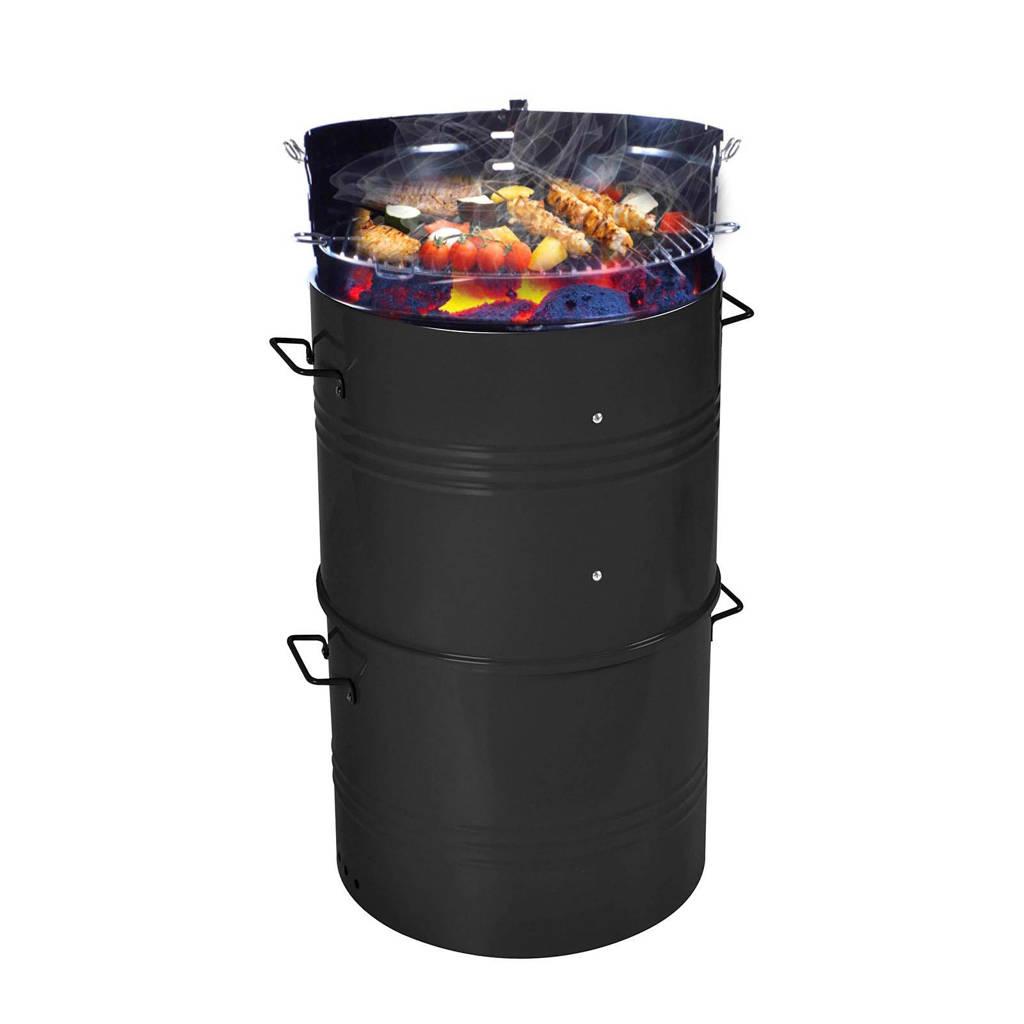 SenS-Line Barrel BBQ XL houtskoolbarbecue, Zwart