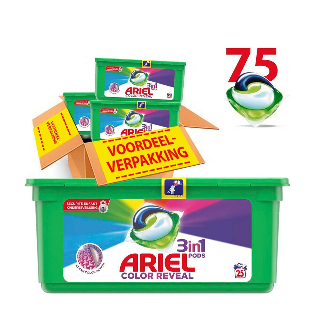Ariel Color Reveal 3in1Pods wasmiddelcapsules 3 x 25 wasbeurten