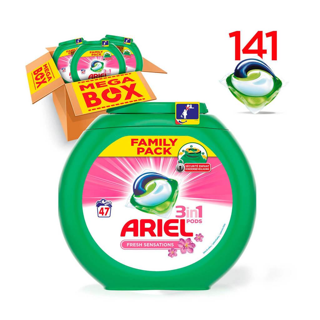 Ariel Fresh Sensations 3in1Pods wasmiddelcapsules 3 x 47 wasbeurten