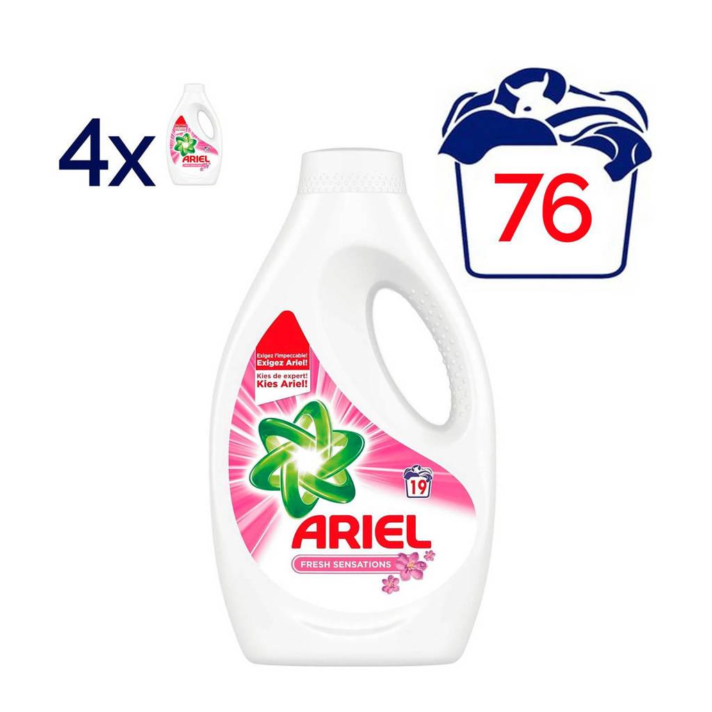 Ariel Sensation Pink vloeibaar wasmiddel 4 x 19 wasbeurten, 76