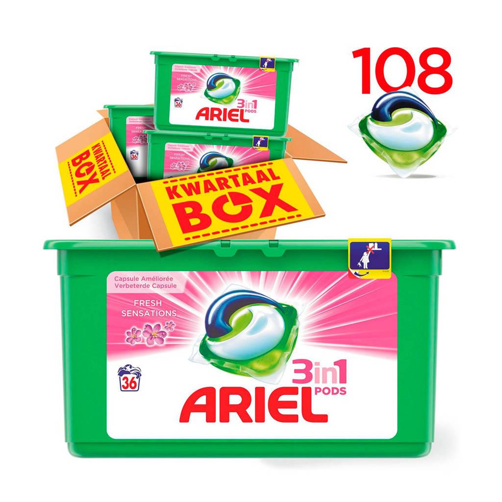 Ariel Sensation Pink 3in1Pods wasmiddelcapsules 3 x 36 wasbeurten