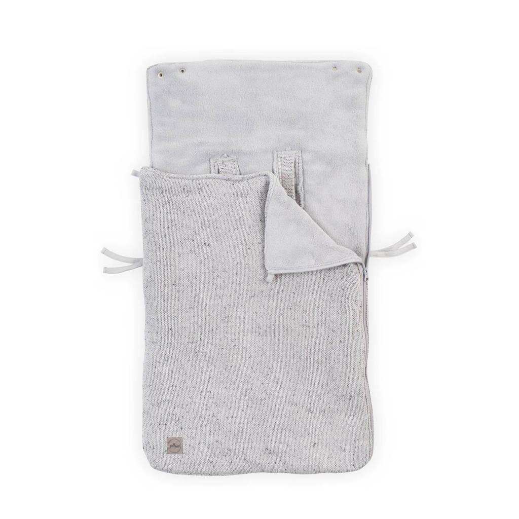 Jollein Confetti knit voetenzak groep 0+ grijs, Grijs