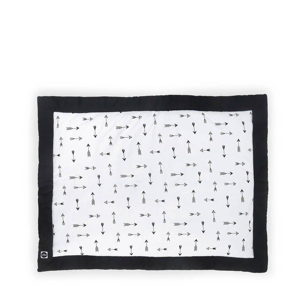 Jollein Indians boxkleed 80x100 cm zwart/wit, Zwart/wit