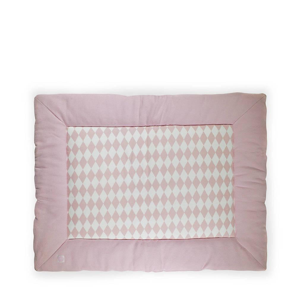 Jollein Mini waffle boxkleed 80x100 cm roze, Roze