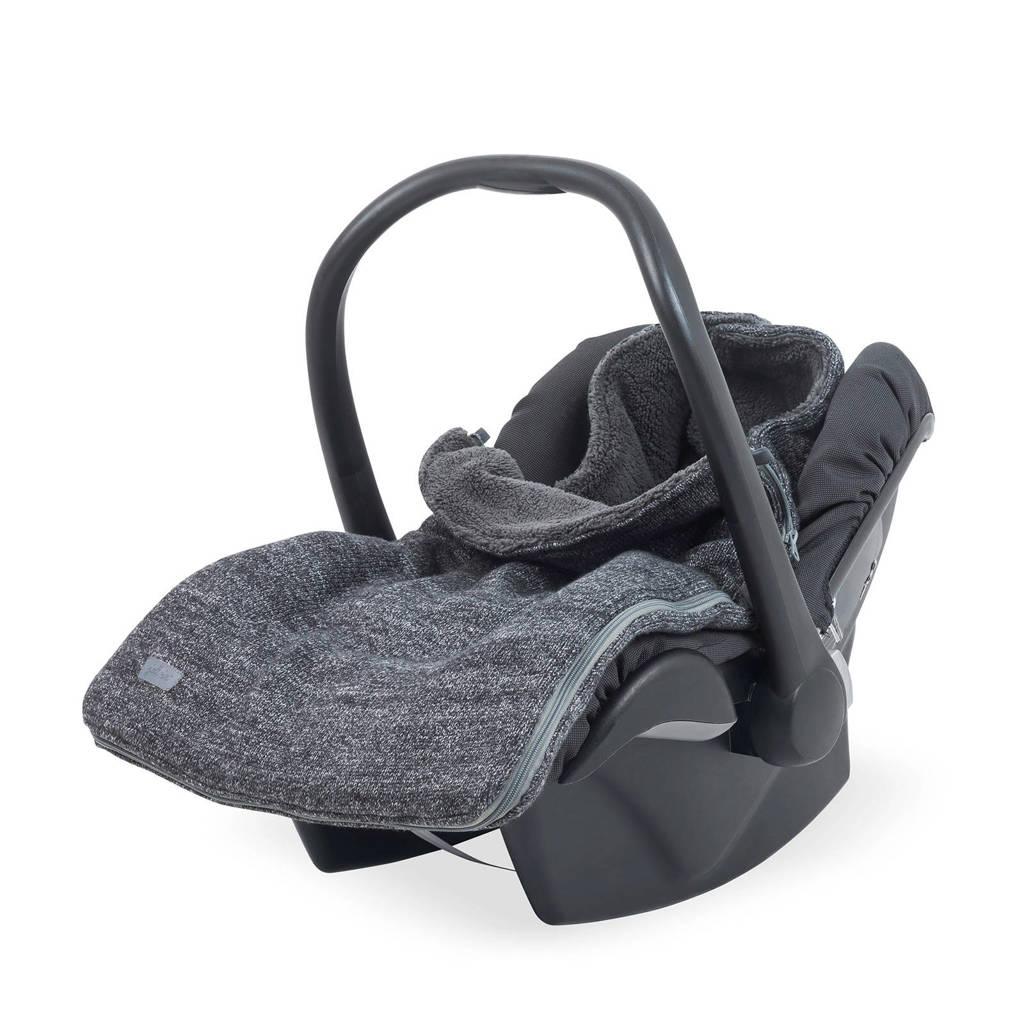 Jollein Natural knit groep 0+ voetenzak antraciet, Antraciet