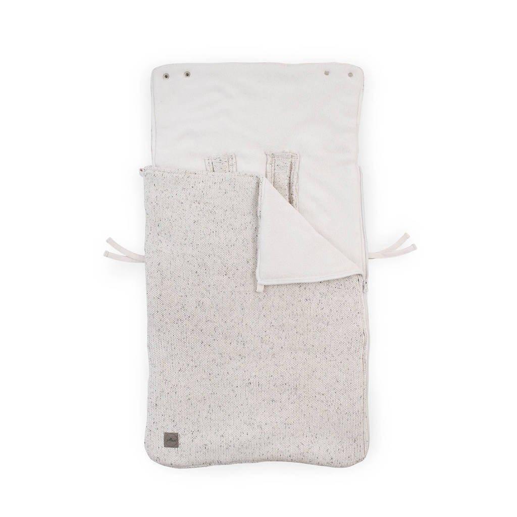 Jollein Confetti knit voetenzak groep 0+ naturel, Beige