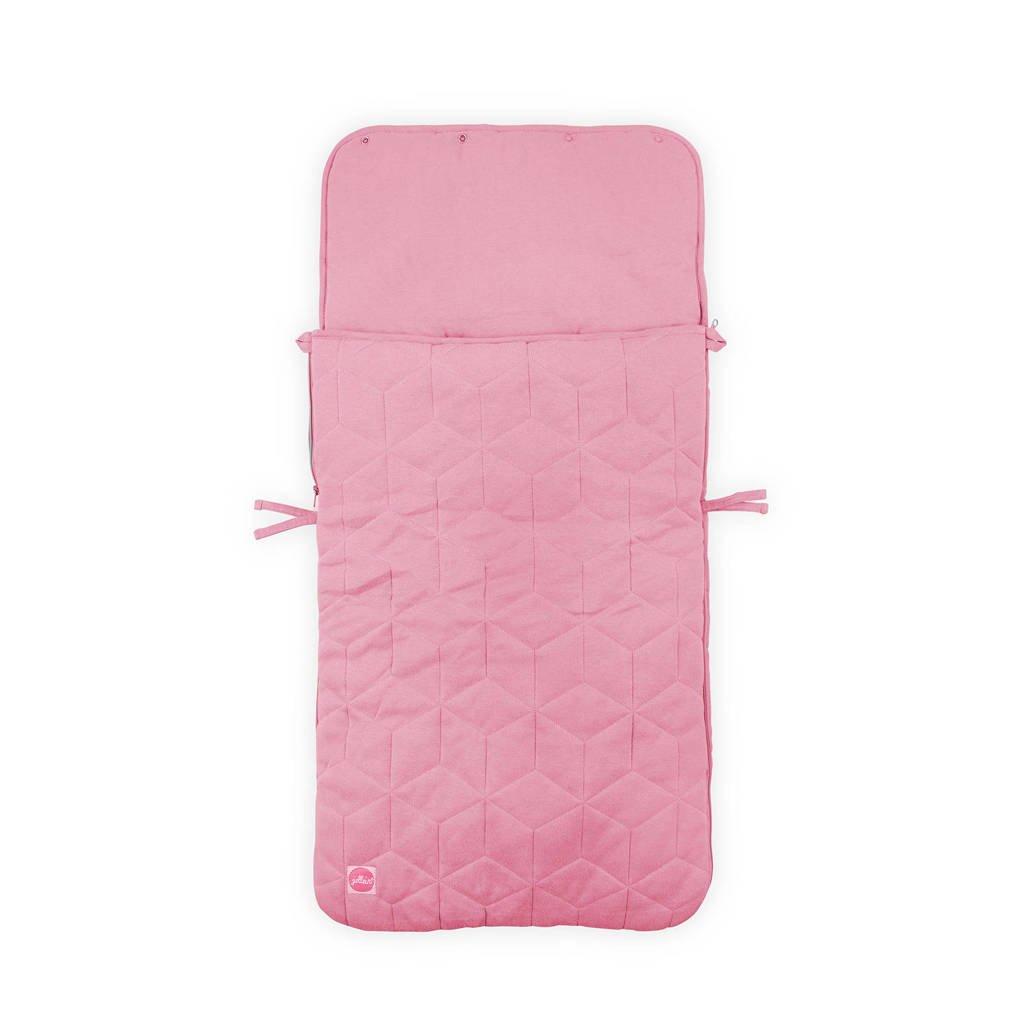 Jollein Graphic quilt voetenzak groep 0+ roze, Roze