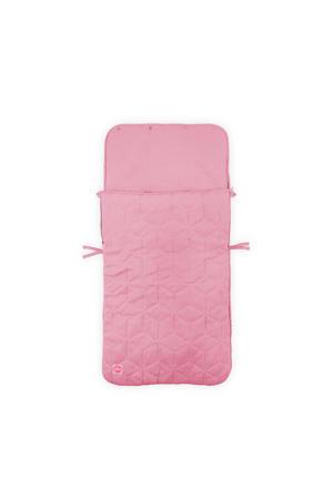 Graphic quilt voetenzak groep 0+ roze