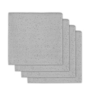 Mini Dots hydrofiele luier 65x65 cm grijs - set van 4