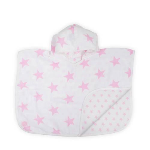 Jollein Little star badponcho hydrofiel 45x60 cm roze kopen