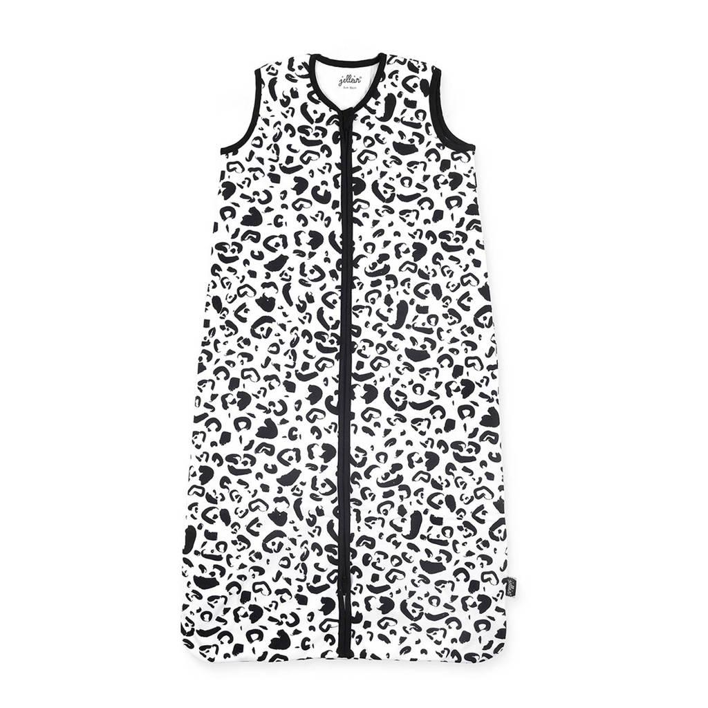 Jollein zomerslaapzak leopard, Zwart/wit