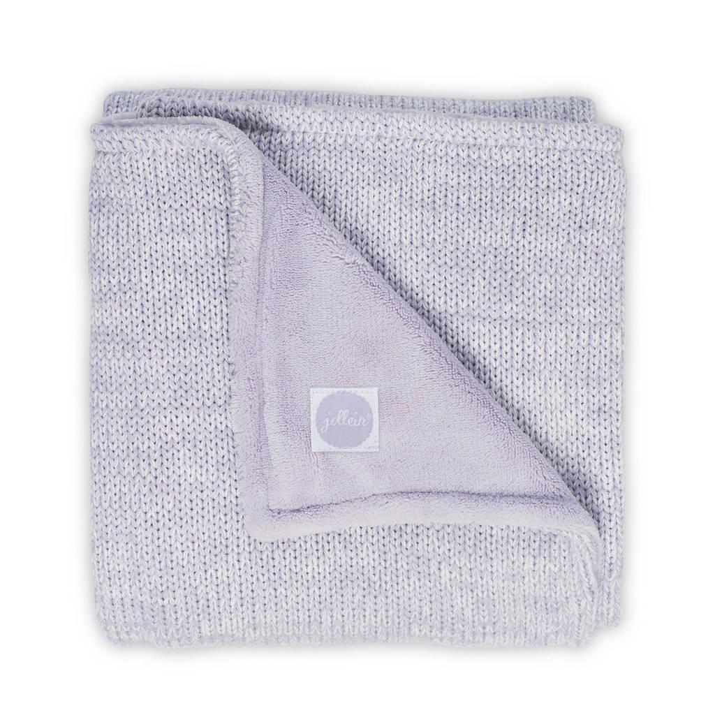 Jollein Melange knit baby wiegdeken 75x100 cm lila, Lila