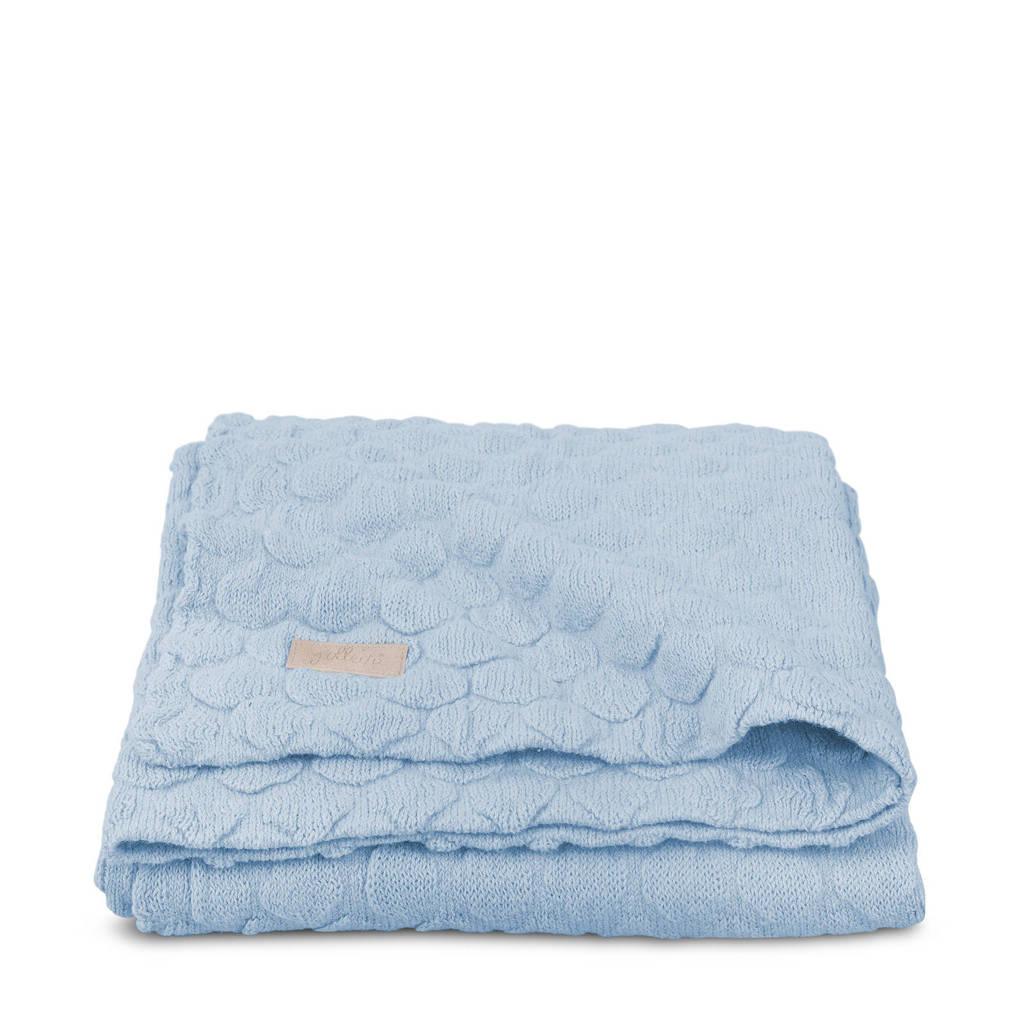 Jollein Fancy knit wiegdeken 75 x 100 cm baby blauw, Baby blauw