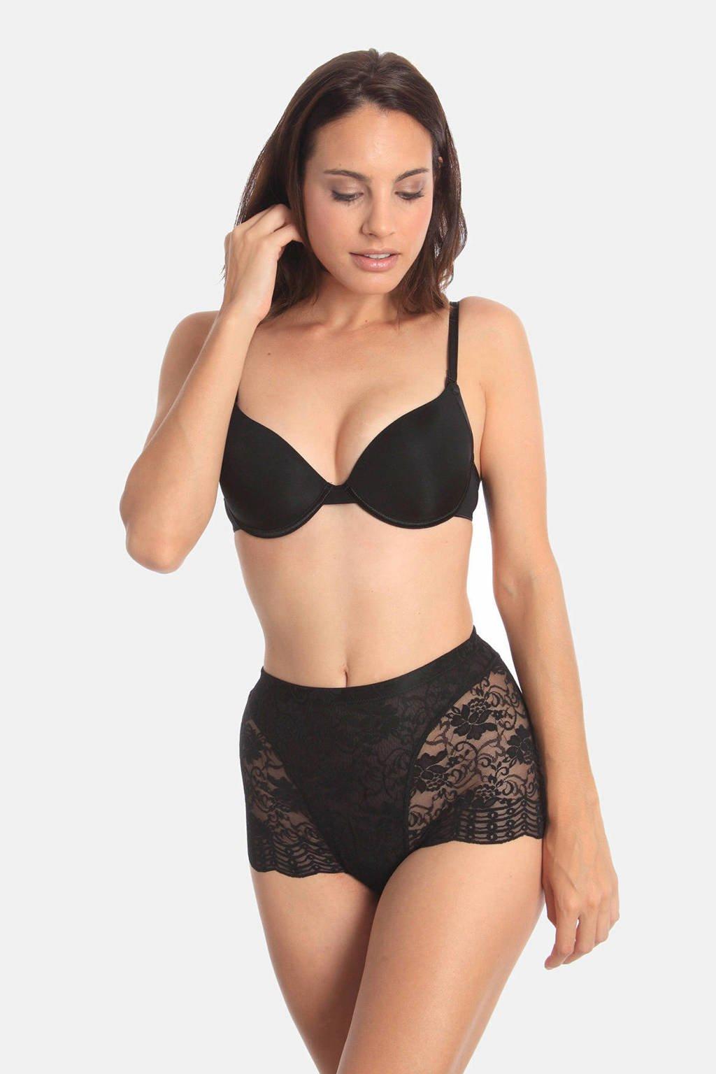 Sassa Mode kanten corrigerende slip zwart, Zwart