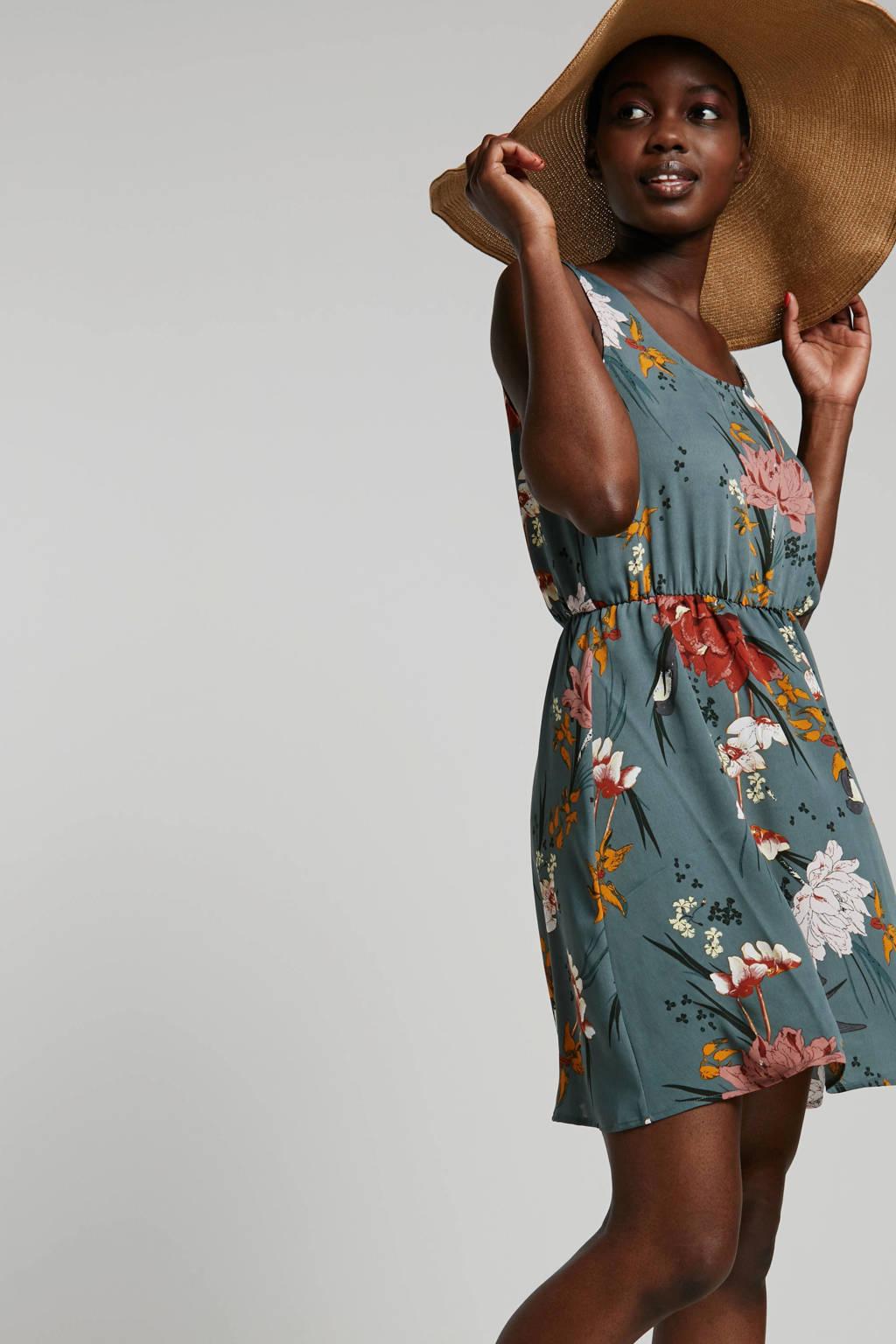 ONLY jurk met all over print, Grijsgroen multi