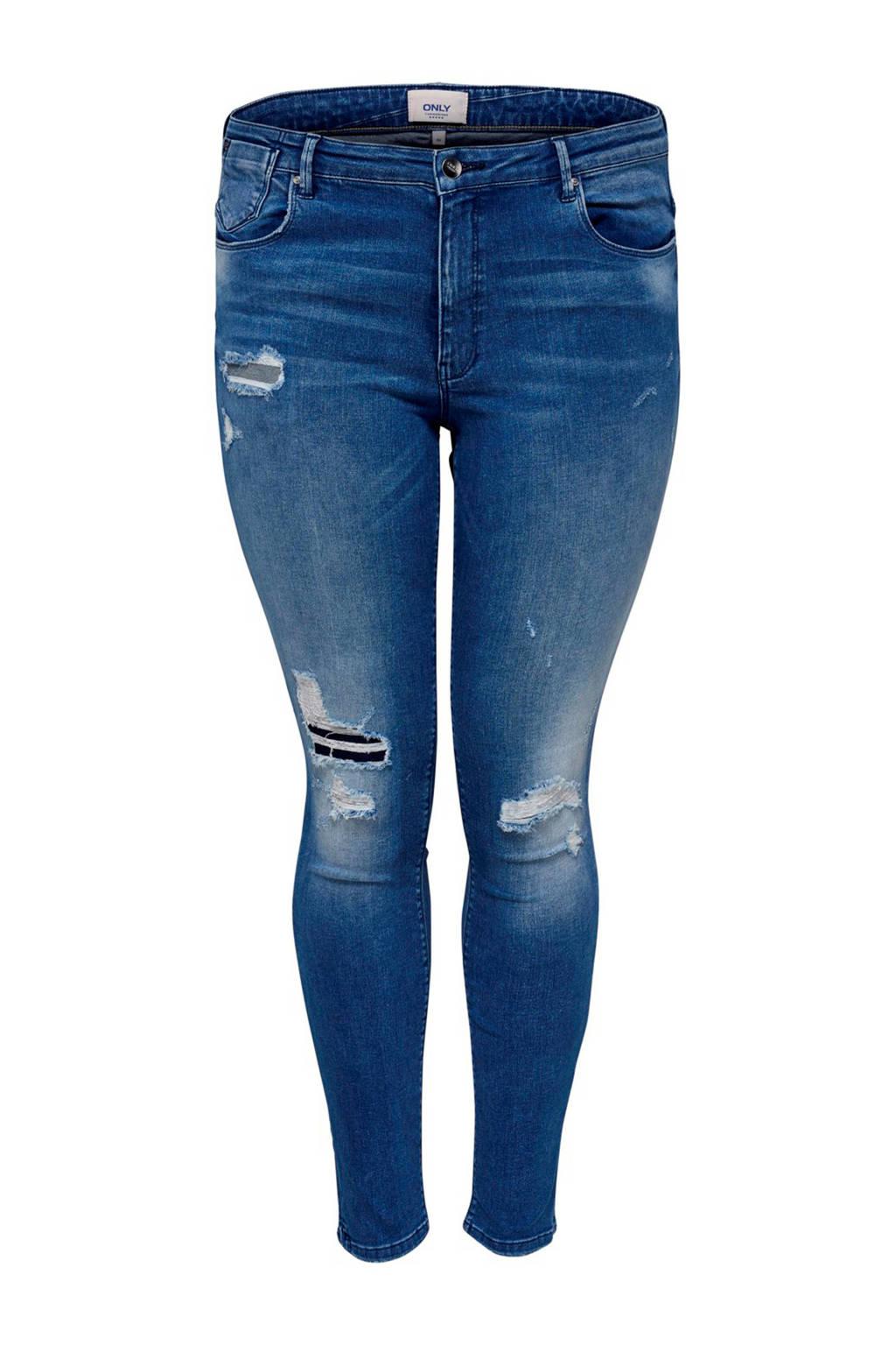 ONLY carmakoma curvy jack regular skinny jeans, Blauw